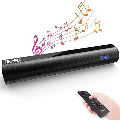 Soundbar Mit Lithium-Batterie, 3D Surround Sound 106DB / 60W Soundbars für TV, 18.9-Inch Wired und Wireless Bluetooth 5.0 TV Speaker Heimkino System