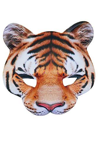 Bristol Novelty - Careta de tigre para disfraz (Tamaño Único) (Multicolor)