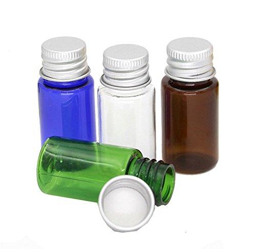 10 pcs/15ml Plastique rechargeables Cosmétique bouteilles bocaux fioles Coque avec bouchons à vis en aluminium pour voyage Crème de lait pour le maquillage fard à paupières poudre conteneurs