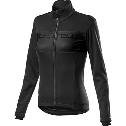 CASTELLI Como Jacket - Chaqueta deportiva para mujer, color negro, talla XS