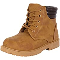 Rugged Bear Lace Up No-Tie Casual Boot