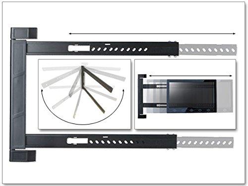DRALL INSTRUMENTS Universal TV Wandhalterung Halterung - für 42-64 Zoll LED LCD OLED Plasma Fernseher - 180° Grad schwenkbar klappbar - für Erker Ecke Camping Wohnwagen - VESA 200 300 400 Modell: S91