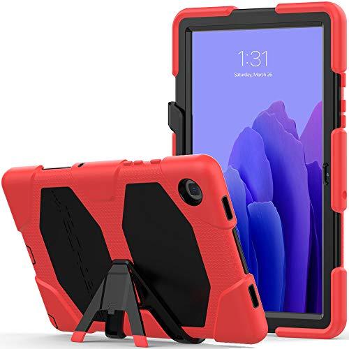 TECHGEAR Custodia Robusta Compatibile con Nuovo Samsung Galaxy Tab A7 10.4  2020 (SM-T500 SM-T505) Resistente agli Urti e all impatto - Cover con Supporto per i Bambini, Lavoro e Scuola [Rosso]