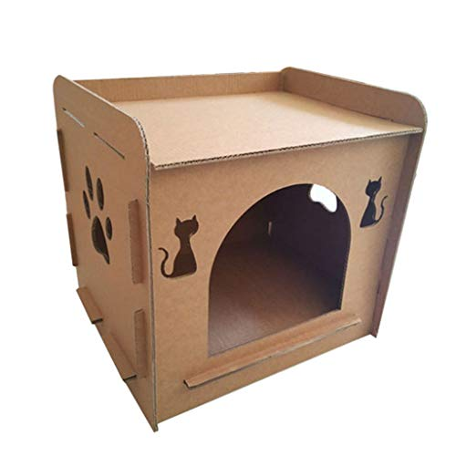 Katzenkratzbaum für Katzen in Hausform, zum Schleifen und als Kauspielzeug
