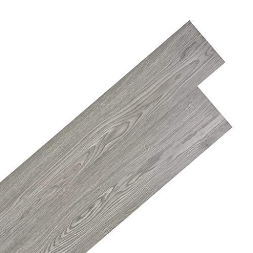36-teiliges Set PVC-Dielen, Fußboden-Belag selbstklebende wasserdichte wärmeisolierte Bodenfliesen Küche Wohnzimmer dunkelgrau 5,02 m², 91,5 x 15,2 cm
