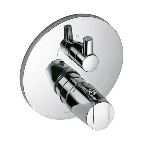 Kludi Fertigmontageset für Unterputz-Brause Thermostat Armatur mit Absperrventil, verchromt, 358350538