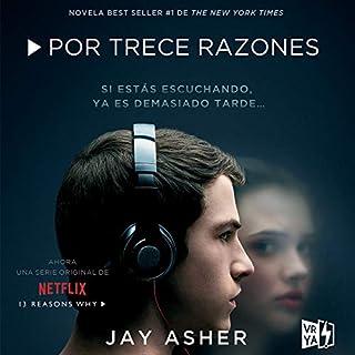 Por trece razones [Thirteen Reasons Why] audiobook cover art