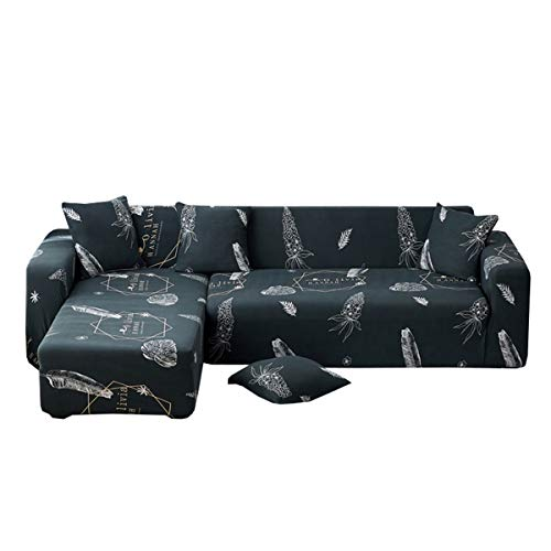 Yunchengyunxiangtong Stretch Couch All-Inclusive-Universal-Abdeckung Stoff Four Seasons Universal Anti-Rutsch-Leder Sofakissen Handtuch Vollabdeckungs-Kissen-Elastic-Sofa-Abdeckung (Size : Triple)
