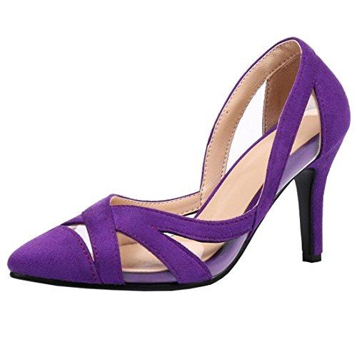 Artfaerie Damen Cut Out High Heels Pumps mit Spitze und Stiletto Elegante Arbeit Büro Schuhe