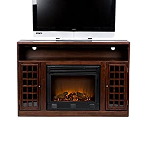 SEI Narita Media Console with Electric Fireplace