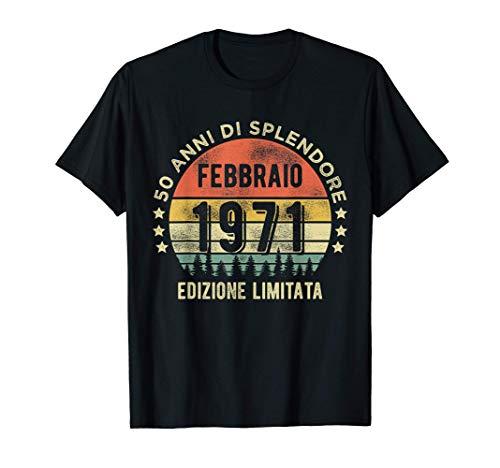 Vintage Febbraio 1971 50 anni Regali 50° compleanno Maglietta