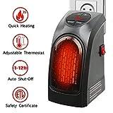 Estufa Eléctrica Calefactor Mini Portátil Handy Heater 400 W Bajo Consumo Temperatura Regulable Baño Casa Oficina Enchufe UE