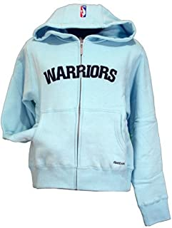 Golden State Warriors NBA-4-Her Junior Womens Hooded Sweatshirt - Glam Hoodie Blue