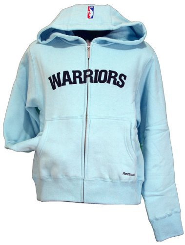 Reebok Golden State Warriors NBA-4-Her Junior - Sudadera con Capucha para Mujer, Color Azul, Large, Azul (Sky Blue)