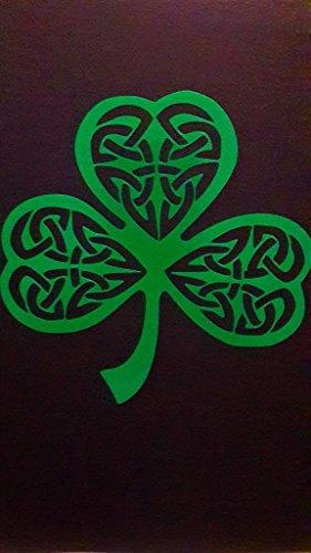 Irish Celtic Knot Shamrock Vinyl Decal Sticker|GREEN|Cars Trucks Vans SUV Laptops Wall Art|5.25' X 5.25'|CGS640