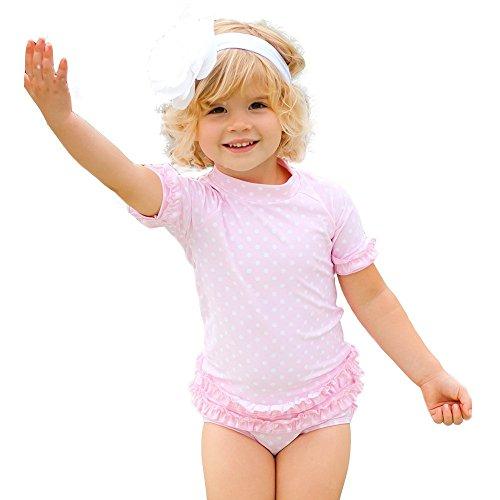 (ラッフル バッツ) ラルフ ラッシュガード ビキニ キッズ 女の子 半袖 ビキニ 水着 02.ピンクドット【RGSPP】 (18-24M【75-80】)