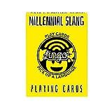 Lingo Slang Playing Cards | Language Learning Game Set | Fun Visual Flashcard Deck to Increase Vocabulary and Pronunciation Skills (Millennial Slang)