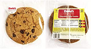 David's Gluten Free Thaw N Serve Invidually Wrapped Chocolate Chip Cookies 3 ounces (Pack of 24)