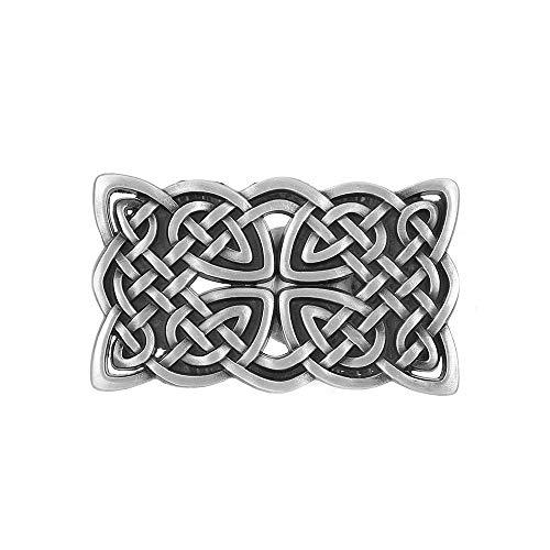 Vintage Celtic Knot Belt Buckle for Men Simple Rectangle Cowboy Belt Buckle