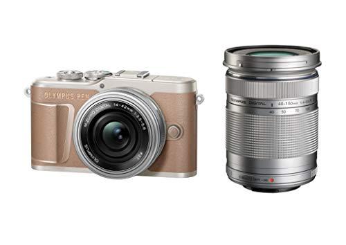 OLYMPUS ミラーレス一眼カメラ PEN E-PL10 EZダブルズームキット ブラウン