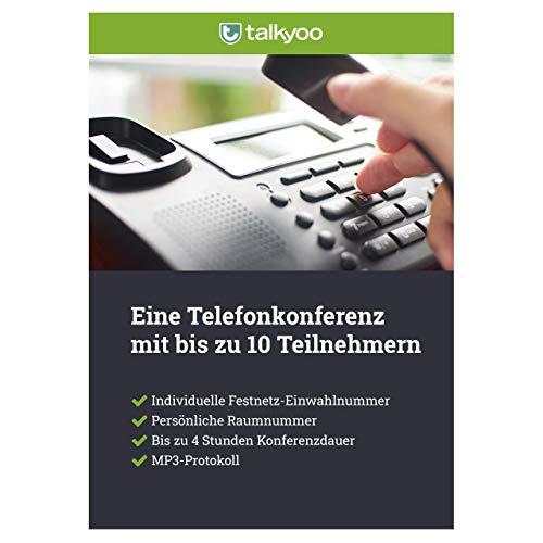 Telefonkonferenz mit 10 Teilnehmern