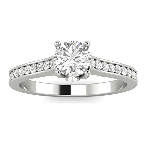 1/2ctw Diamond Engagement Ring in 10k White Gold (H-I, I2-I3)