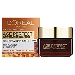 A rich repairing day cream With Manuka Honey and Calcium B5 For anti-sagging and smoothing With a rich, silky-smooth cream texture L'Oréal are removing the cellophane wrapper from the packaging of all L'Oréal Paris skincare products as part of effort...