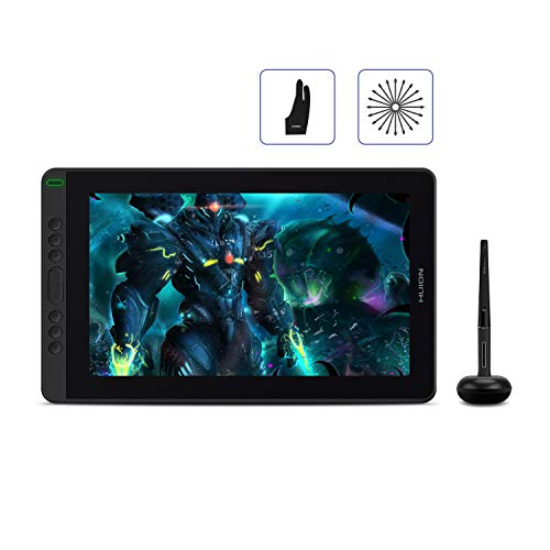 2020 HUION Kamvas 13 Android Support Graphic Tablet with Screen, Full Laminated Screen with Anti-glare film, NEW Battery-Free Stylus PW517 with Tilt Function, 8 Express Keys - 13.3 inch, Green