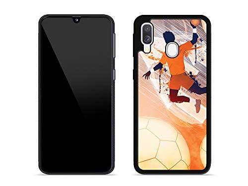 etuo Hülle für Samsung Galaxy A40 - Hülle Aluminum Fantastic - Handball Handyhülle Schutzhülle Etui Case Cover Tasche für Handy