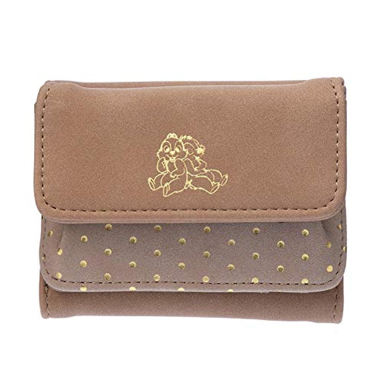 世界パーク安定したディズニーストア(公式)財布?ウォレット チップ&デール カラースウェード