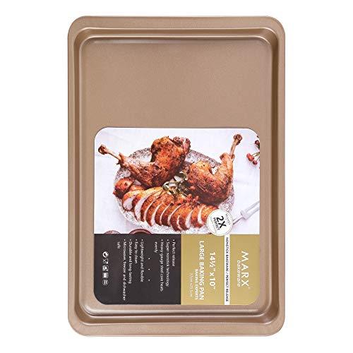 Latauar Premium Backblech, Bakeware - Plätzchenblech Halbblech Backform Edelstahl 37 x 26 cm, ungiftig & gesund