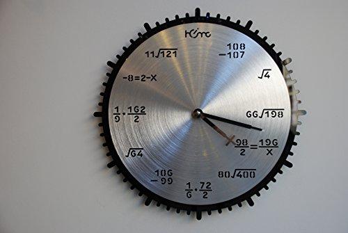 LUMONDE - Horloge Murale design Industriel et motif à Chiffre en métal de Diamètre 35 cm et Couleur Noir et Inox