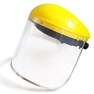 la pel/ícula protectora debe ser despegada con gafas//para adultos y ni/ños 2 Visera protectora de cara completa 2 parasoles de pl/ástico transparente para la cara completa