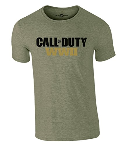 Call of Duty WW2 T-Shirt CoD Gaming Tee Videospiel (L, Grün)