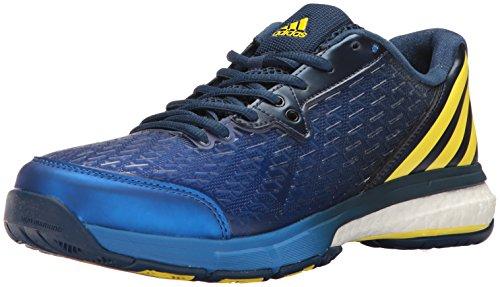 adidas Men's Energy Volley Boost 2.0 Volleyball Shoe, Mystery Blue/Lemon Peel/Satellite, 6.5 M US