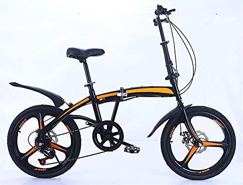 Juventud / Adulto Variable Velocidad Bicicleta De 20 Pulgadas Una Rueda Bicicleta De Montaña Multifuncional Bicicleta Plegable, Montaña Cross-Couth Couth Bike Suspensión, Multicolor, Marco De Acero De