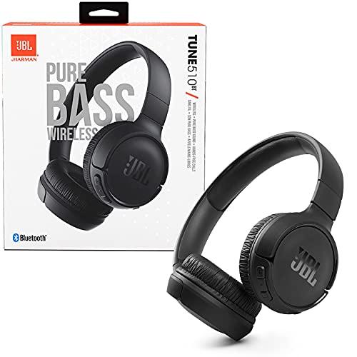 Fone de ouvido on ear JBLT510BTBLK