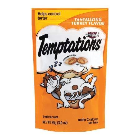 Whiskas Temptations Turkey Flavor Cat Treats (Pack of 2)