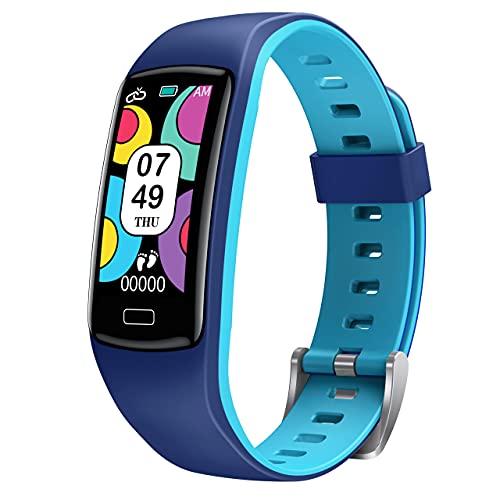Reloj Inteligente Niño,CatShin Pulsera Actividad Inteligente con Monitor de Presión Arterial, Pulsómetro,Monitor de Sueño,Impermeable IP67 Deportivo Smartwatch Podómetro, Reloj Niño para Android iOS