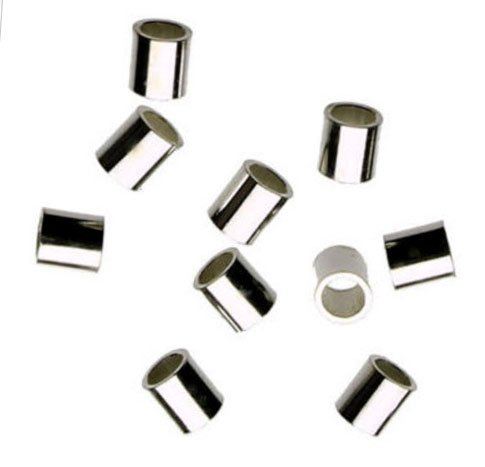 100 Pcs Sterling Silver Crimp Bead 2 X 2mm Tube Crimp Beads