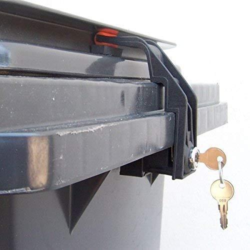 CTS Mülltonnenverschluss Mülltonnenschloss 60 bis 240 Liter mit Griffleistendeckel (gleichschließend)