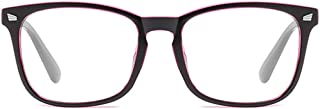 BOZEVON Women Glasses - Black Frame Classic Vintage Round Clear Lenses Non Prescription Anti Blue Light Glasses Men Women Fashion Eyewear