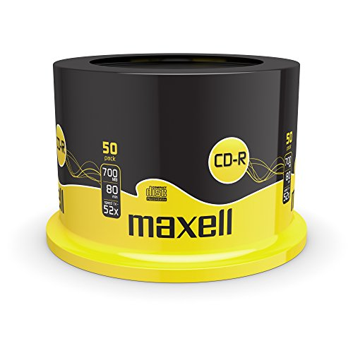 Photo of Maxell CD-R 52x Blank Discs 700MB Extra Protection (50 Disk Pack – Spindle)