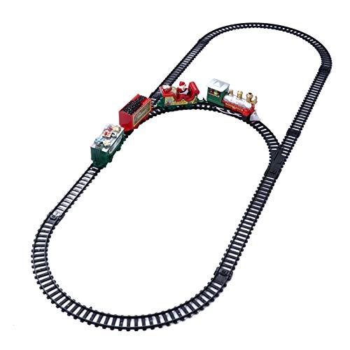 TOYANDONA Tren de Navidad para Debajo del Árbol con Muñeco de Nieve...