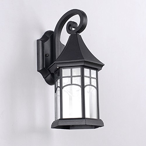 Retro waterdichte buitenwandlamp aluminium met glazen kap roestbescherming decoratie tuin gang garage buitenwandlamp wandlampen