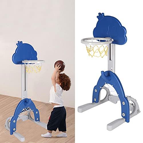 Zhat Juguete de Soporte de Baloncesto, Juguete de Soporte de Baloncesto retráctil 61~102 cm / 24~40,2 Pulgadas Ajustable Mejorar la coordinación para niños para niños
