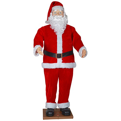 Life Size Animated Dancing Santa with Realistic Face