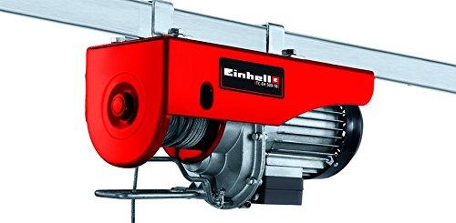 Einhell Paranco a fune metallica TC-EH 500-18, 1000 W, carico max. 500 kg, altezza sollevamento max. 18 m, interruttore con arresto emergenza, fune metallica 18 m