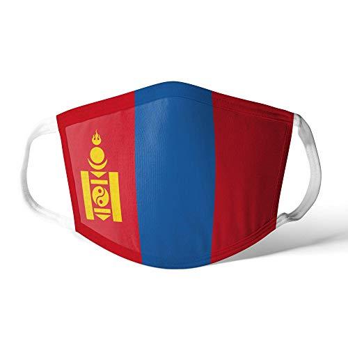 M&schutz Maske Stoffmaske Mittel Asien Flagge Mongolei/Mongolisch Wiederverwendbar Waschbar Weiches Baumwollgefühl Polyester Fabrik
