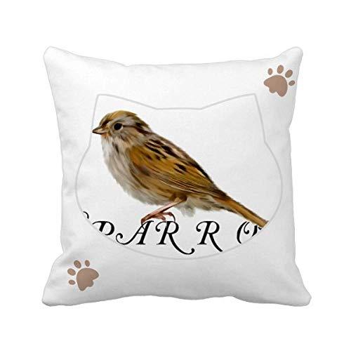 OFFbb-USA Food Companions Sparrows Birds - Funda cuadrada para cojín